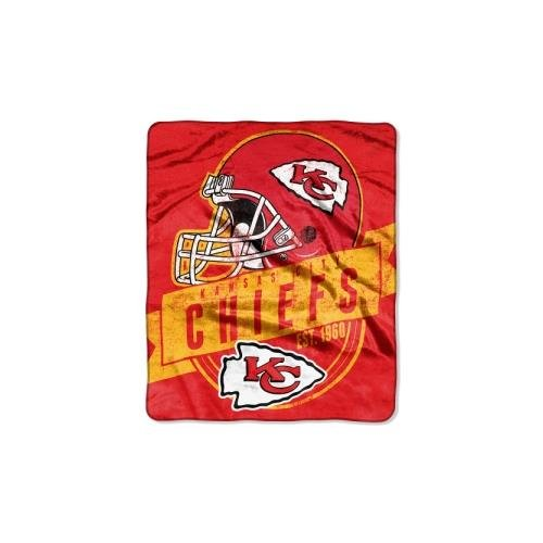 The Northwest Company Officially Licensed NFL Kansas City Chiefs Grand Stand Plush Raschel Throw Blanket, 50
