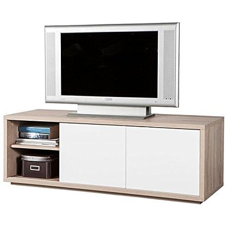 Mobile Tv Ante Scorrevoli.Mobile Porta Tv Due Ante Scorrevoli Rovere Chiaro E Frontali Laccati