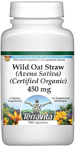 Wild Oat Straw (Avena Sativa) (Certified Organic) – 450 mg (100 capsules, ZIN: 518609) For Sale