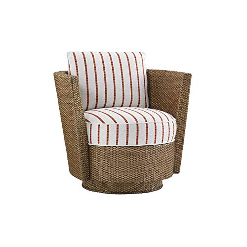 Tommy Bahama Twin Palms Tarpon Bay Swivel Chair in Brown (Bahama Furniture Tommy Rattan)