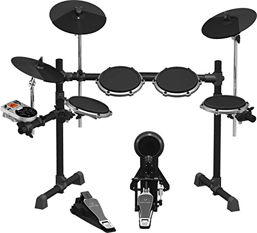 BEHRINGER XD80-USB High-Performance 8-Piece Electronic 240 Sounds 15 Drum Sets LCD Display Black and Grey, inch XD80USB