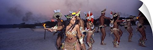 Traditional Customs And Costumes Brazil (Canvas On Demand Wall Peel Wall Art Print entitled Theatre Group Amazon)