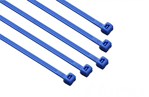 8-in, 100 Pack, 75-lb, Blue, Standard Nylon Cable Tie 848145 8