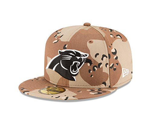 Camo 59fifty Fitted Cap - New Era NFL Carolina Panthers League Basic 6 59FIFTY Fitted Cap, Size 7 3/4, Day Camo