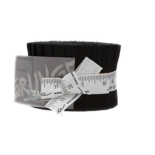 BasicGrey Grunge Basics Onyx Junior Jelly Roll 20 2.5-inch Strips Moda Fabrics 30150JJR 99