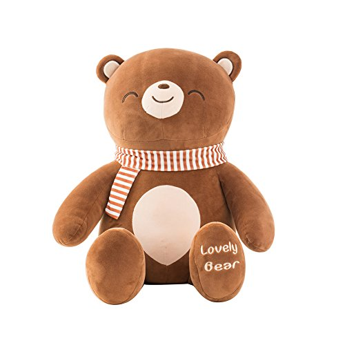Niuniu Daddy Stuffed Bear Plush Lovely Teddy Bear Stuffed Animal Toy for Girlfriend Children Gift, Brown 25.5