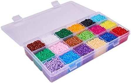 Pandahall Elite 3000 unidades Cuentas de 2,5 mm tamaño mini abalorios hama beads fuse beads para manualidades infantiles 18 Colors 2.5mm: Amazon.es: Juguetes y juegos