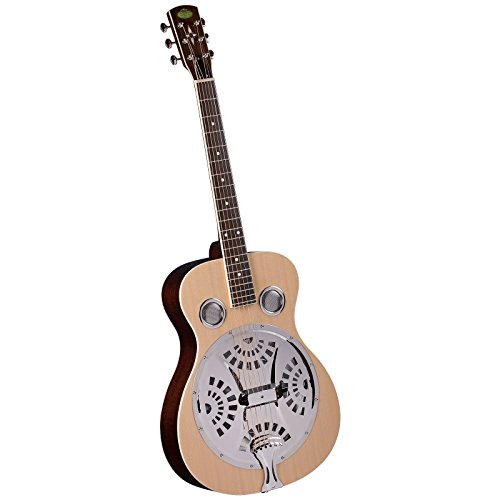 Regal RD-40N Studio Series Roundneck Resophonic Guitar - Natural (Spider Resonator Guitar)