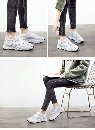 Casuales Tamaño 6size Zhijinli Mujer Retro Zapatillas Amantes Zapatos 7 Plataforma Deporte De qSv17v6Y