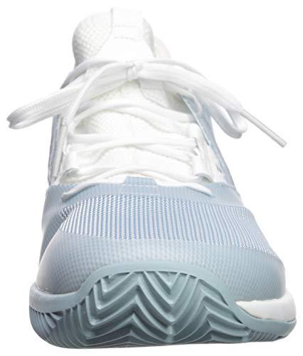 adidas Women's Adizero Defiant Bounce, ash Grey/White, 5 M US by adidas (Image #4)