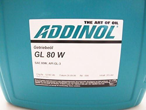 Addinol Gl80w Getriebeöl Gl 3 Mineralisch 20 L Kanister Auto