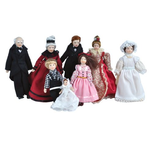 Dollhouse Miniature The Gladstone Family Dolls ()