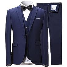 Men's blazer Slim Fit a button suit 3 piece suit + vest + pants INFLATION