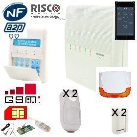 Kit Alarma Risco agility3tm RTC/IP/GSM - 4 detecteurs ...