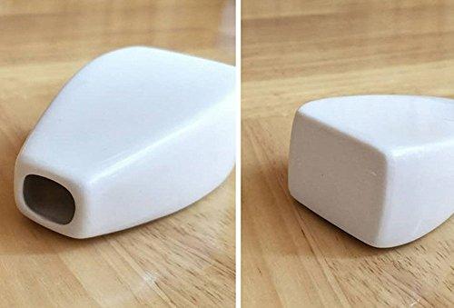 Outflower Modern Minimalist Ceramic Flower Vase for Single Flower White