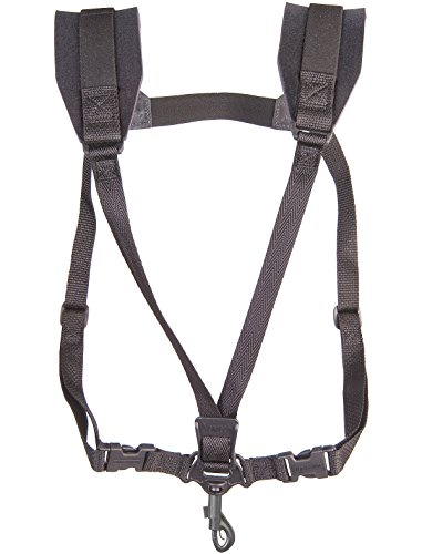 Neotech Soft Sax Harness Strap (Neotech 2501162 Soft Harness, Black, Swivel Hook)
