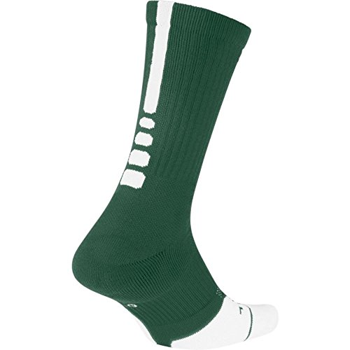 Nike Elite Crew 1.5 Team Basketball Socks Large (Men Size 8-12) Green White SX7035-341