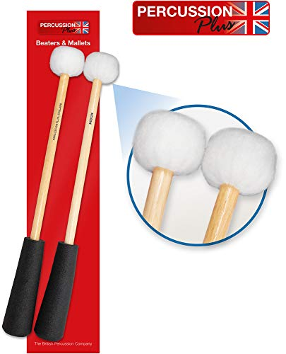 Percussion Plus PP759 Pair of Easy Grip Medium Timpani Mallets
