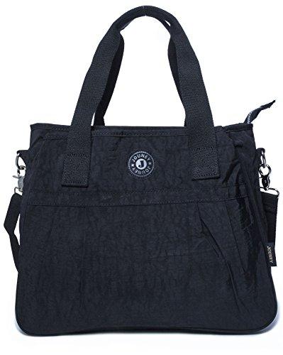 À black Bhbs Shopping Grand Fourre Main 3 Compartiment tout En Épaule Tissu Sac wpT6qzxp7