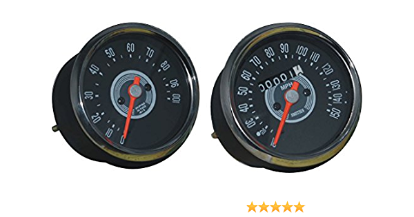 RS Vintage Parts RSV-B017BEM9QA-01389 Motorcycle Parts A67 Bike Replica Smith Speedometer Black 0-120 Mph Bsa Royal Enfied Norton