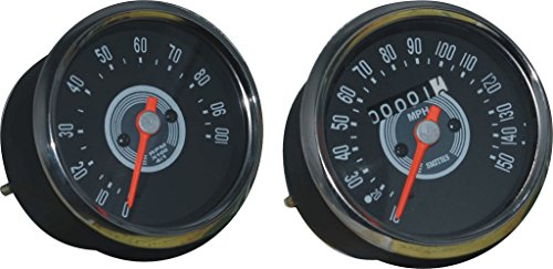 RS Vintage Parts RSV-B019E2O2K8-01557 Motorcycle Parts Smith Replica Speedometer Tachometer Or Rpm Pair 150 Mph Grey Bsa Norton Triumph