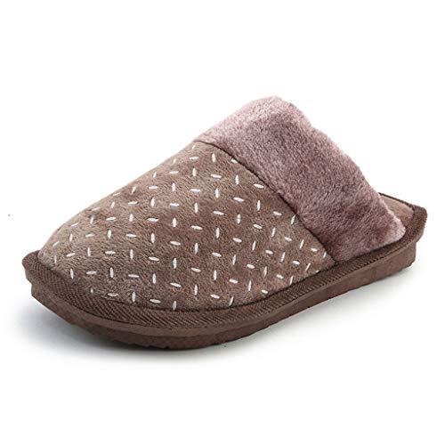 Addensare Antiscivolo Antiscivolo Antiscivolo Con Per Rotonda Inverno Pantofole Scarpe Uomo   72e80c
