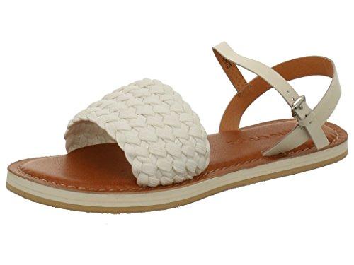 Marc O'Polo 603 11241002 604 110 - Sandalias de vestir de tela para mujer Blanco - Off-White