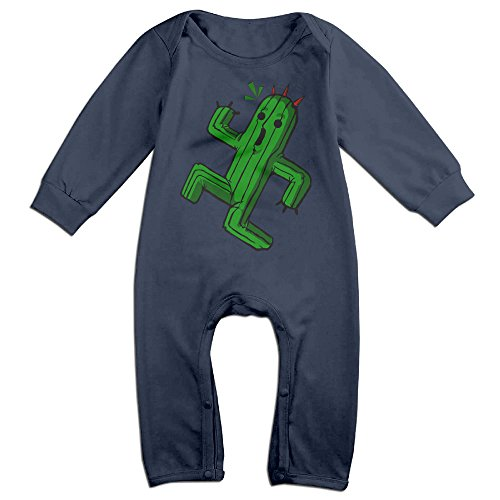 NOXIDN SMWI Baby Infant Romper Final Fantasy Cactus Long Sleeve Jumpsuit Costume,Navy