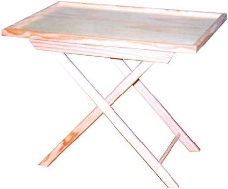 Mesa plegable. En pino crudo, para pintar. Medida posición 1 ...