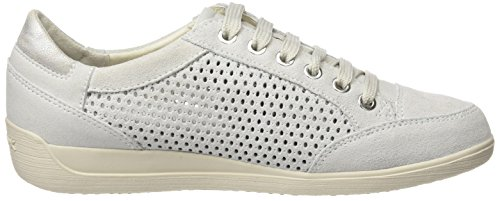 Geox Women's D Myria B Low-Top Sneakers Off White choice cheap online EQh6c16j8