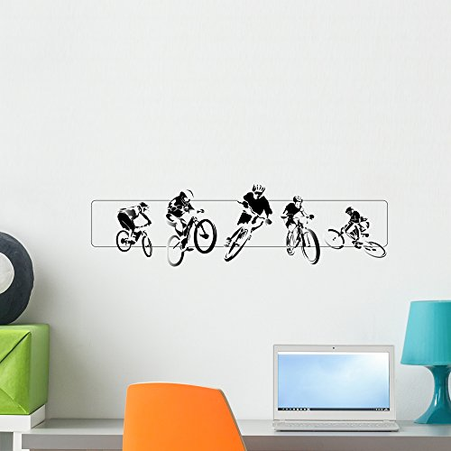 Cheap  Wallmonkeys BMX Wall Decal Peel and Stick Graphic (24 in W x..