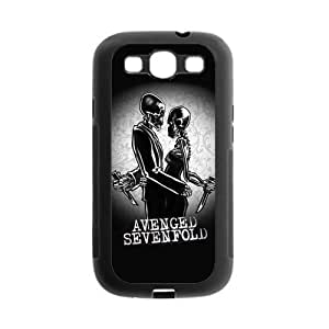 Protective Hard Black Case Cover for Samsung Galaxy S3 S III I9300 - A7X Avenged Sevenfold Designed by WCA