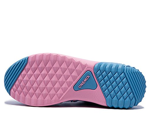 Onemix Sneaker Da Donna, Scarpe Da Passeggio Da Jogging Rosa / Blu