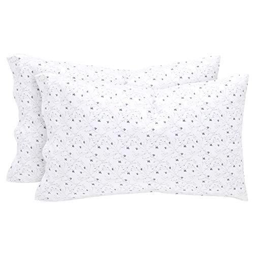 (Stone & Beam Remy 100% Cotton Sateen Pillowcase Set, Set of 2, Standard, Cloud)