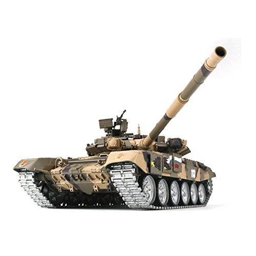 ロシア T90 RCメインバトルタンク RCモデルカー 模擬モデル スプロケット付き 軍用車両 軍隊ファン対応 HengLong 1:16 3938-1 迷彩イェロー