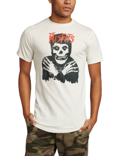 Impact Merchandising Men's Misfits Classic Skull T-Shirt, Vintage White, Small ()