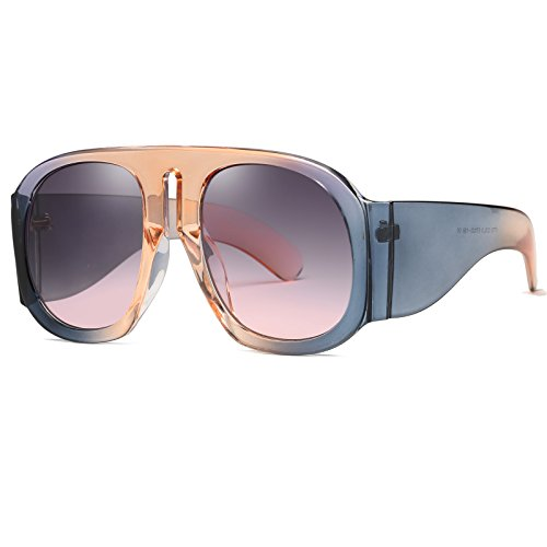 SIKYGEUM Oversized Sunglasses Women Multi Tinted Thick Big Frame Clout Goggles