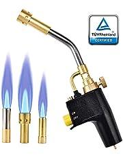 HUKOER MAPP propan fackla lödning grill fackla hög intensitet avtryckare start fackla gränssnitt CGA 600, gascylindrar ingår inte