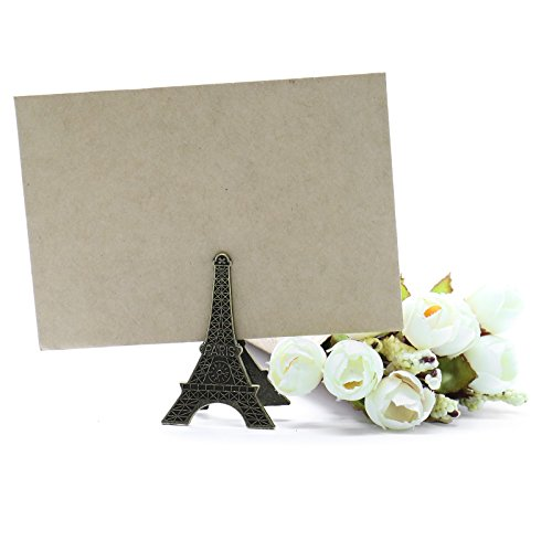 Eiffel Tower Place Card Holders - MAISHO Vintage Eiffel Tower Card Holder Clips Pack of 10
