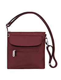 Travelon Anti-Theft Classic Mini Shoulder Bag, Cranberry, One Size