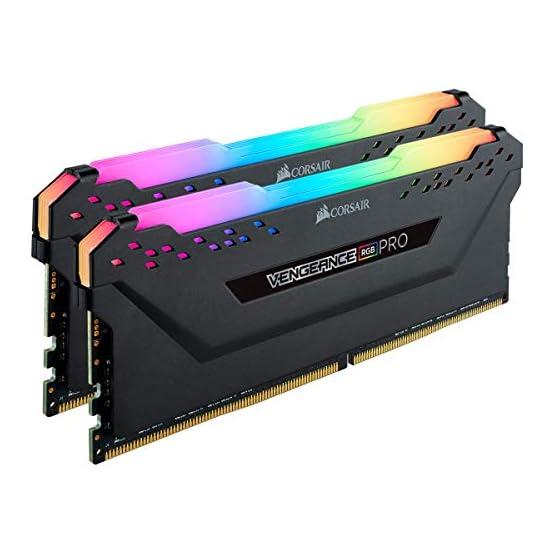 Corsair Vengeance RGB PRO 16GB (2x8GB) DDR4 2666MHz C16 LED Desktop Memory, Black 41fOBcV8HdL. SS555