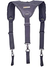 Heavy Duty Work Suspenders for Men with 3 Loop Attachment, Adjustable, Comfortable and Padded
