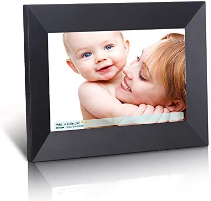 Dhwazz Digital Photo Frame, 8 Inch WiFi No Subscription Fee 16GB IPS HD Electronic Picture Frames with LCD Touch Screen, Share Moments Instantly via Mobile APP, Support Slideshow, Wall-Mountable