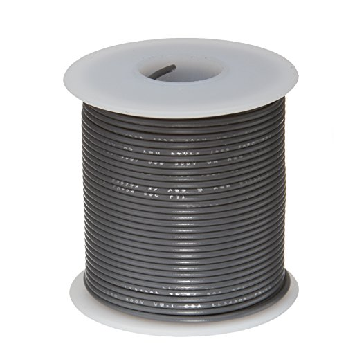 "Remington Industries 20UL1007SLDGRA 20 AWG Gauge Solid Hook Up Wire, 100 feet Length, Gray, 0.0320"" Diameter, UL1007, 300 Volts 41fOC6ak7vL"