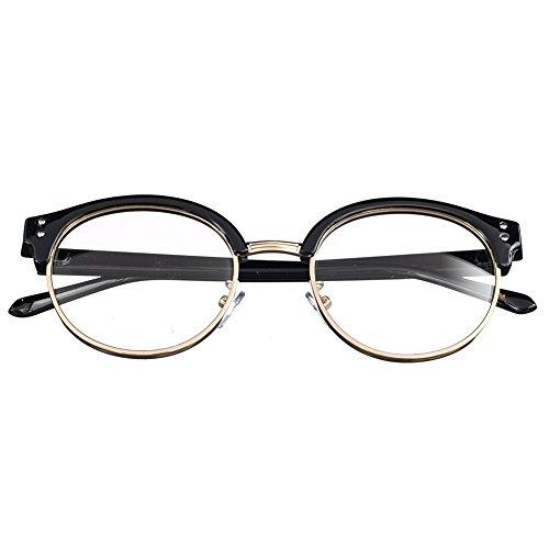 Bi Tao Black frame Bifocal Reading Glasses 1.50 Strengths Men Women Fashion Half Frame Bifocal Reading Eyeglasses