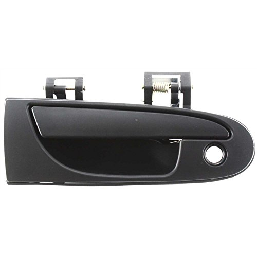 2 Eagle Base (Evan-Fischer EVA18772022197 Door Handle for 96-98 Eagle Talon Base 2.0L Front Right Side Exterior Plastic Smooth Black w/ Keyhole Replaces Partslink# MI1310110)