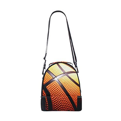 correa negro de color para para doble hombro almuerzo picnic ajustable de Bolso el baloncesto zdqtvwv8x
