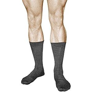 2 Pairs Men's MERINO WOOL Socks, Best Quality Warm Mid Calf Length, Vitsocks Classic, 12-13, dark grey