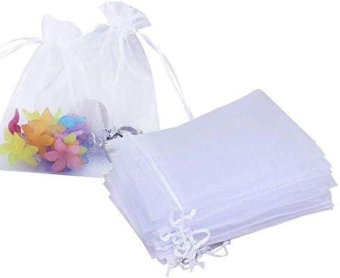 [해외]100 개의 백색 건 착 봉투 10 × 15cm 실크 지 무지 캐디 쥬얼리 선물 포장 속눈썹 모양 악세사리 소품 수납 가방 / 100 pcs White Purse Bag 10×15cm Organzie Plain Accessory Case Jewelry Gift Packaging Eyelash Pattern Accessories Accessor...