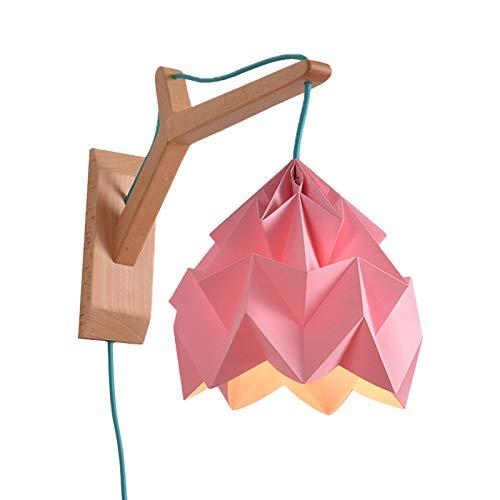 RUNNUP Lámpara de pared LED Industrial E27 colgantes para interiores vintage de 1 luz Iluminación con panel de madera…